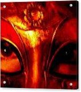 Eyes Behind The Mask Acrylic Print