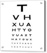 Eyesight Test Chart Acrylic Print by