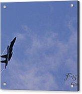 F-15 Flyover At Grants Pass Text Version Acrylic Print
