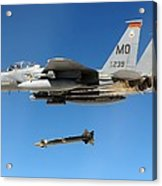 F-15 Strike Eagle Fighter Drops Acrylic Print