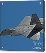 F-22 Lightning 2 Fighter Acrylic Print by Tim Mulina