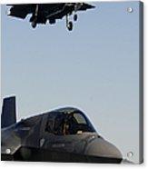 F-35b Lighnting II Variants Land Aboard Acrylic Print