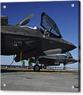 F-35b Lightning II Variants Are Secured Acrylic Print