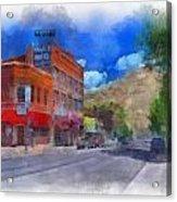 F And S Salida Watercolor Acrylic Print