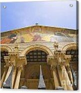 facade of Church of all Nations Jerusalem Acrylic Print
