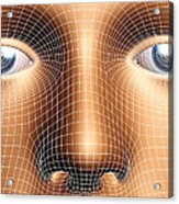 Face Biometrics Acrylic Print by Pasieka