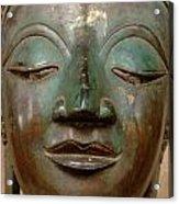 Face Of Bronze Buddha  Acrylic Print