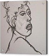 Face Of Nude Woman Acrylic Print