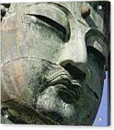 Face Of The Daibutsu Or Great Buddha Acrylic Print