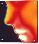 Face Thermogram Acrylic Print