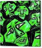 Faces - Green Acrylic Print