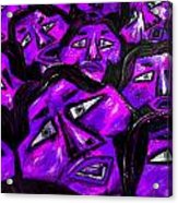 Faces - Purple Acrylic Print