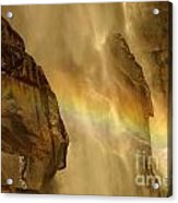 Faces In The Falls Acrylic Print