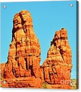 Faces In The Red Rock Towers Acrylic Print