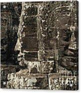 Faces Of Banyon Angkor Wat Cambodia Acrylic Print