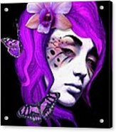Faces Of Fay Violet Acrylic Print by Diana Shively