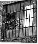 Factory Air In New Orleans In Black And White Acrylic Print