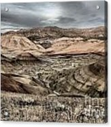 Faded Painted Hills Acrylic Print
