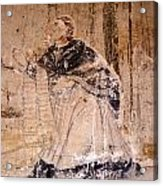 Faded Religious Mural Mexico Acrylic Print