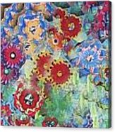 Fading Flower Power Acrylic Print by Marilyn West