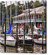 Fairhope Yacht Club Sailboat Masts Acrylic Print