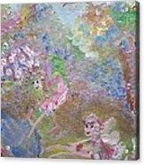 Fairies By The Pool Acrylic Print