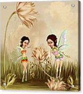 Fairies In The Garden Acrylic Print