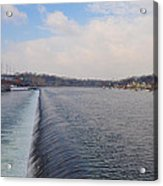 Fairmount Dam And Boathouse Row - Philadelphia Acrylic Print