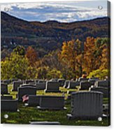 Fairview Cemetery In Autumn Acrylic Print