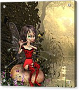 Forest Fairy Playing The Flute Acrylic Print