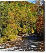Fall Along Elk River Acrylic Print by Thomas R Fletcher
