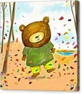 Fall Bear Acrylic Print by Scott Nelson