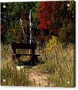 Fall Bench Dreams Acrylic Print