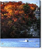 Fall Boating At Starved Rock Acrylic Print