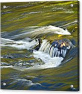 Fall Colors In River Rapids Acrylic Print
