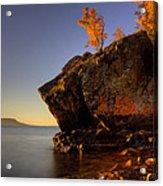 Fall Colours In The Squaw Bay Fallen Rock Acrylic Print