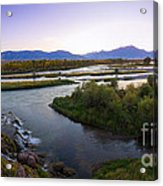 Fall Creek Panorama Acrylic Print