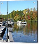 Fall Fishing Break Acrylic Print