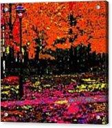 Fall In Red Acrylic Print