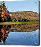 Fall On Lake Lila Acrylic Print