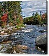 Fall On Swift River Acrylic Print