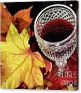 Fall Red Wine Acrylic Print