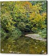 Fall Reflection Pool Acrylic Print
