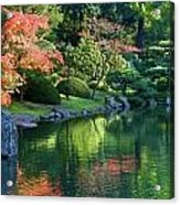 Fall Reflections Japanese Gardens Acrylic Print