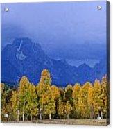 Fall Storm Over The Tetons Acrylic Print