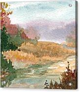 Fall Stream Study Acrylic Print by Sean Seal