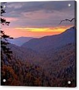 Fall Sunset Acrylic Print by Charles Warren