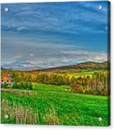 Fall Vermont Farm Acrylic Print by Mike Horvath