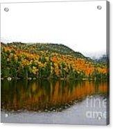 Fall View Of Saco Lake And Elephants Head Acrylic Print
