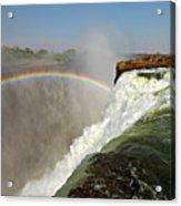 Falling Down  Falls, Zambia Acrylic Print